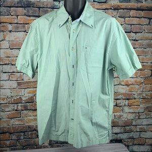 Tommy Hilfiger light green button down shirt sz L